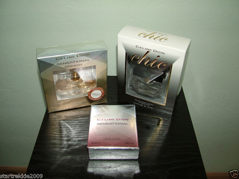Sensational Moment+Chic+Sensational By Celine Dion EDT 0.5 Oz/15 ml.Each.NIP