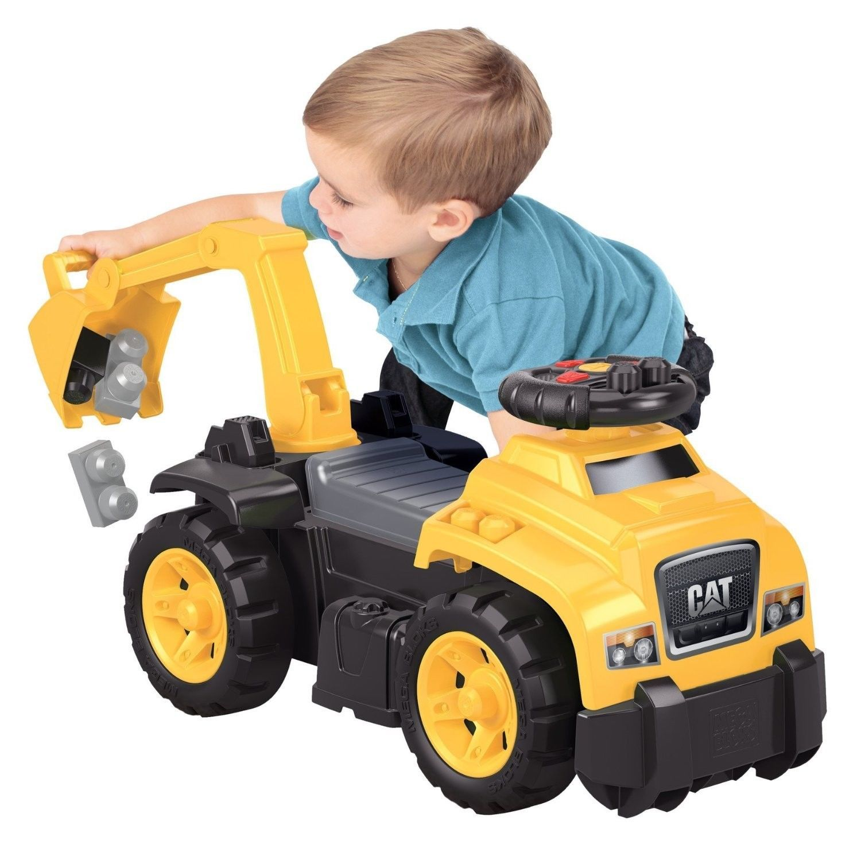 Ride On Toys : Megabloks cat ride on toy tool box dump truck construction