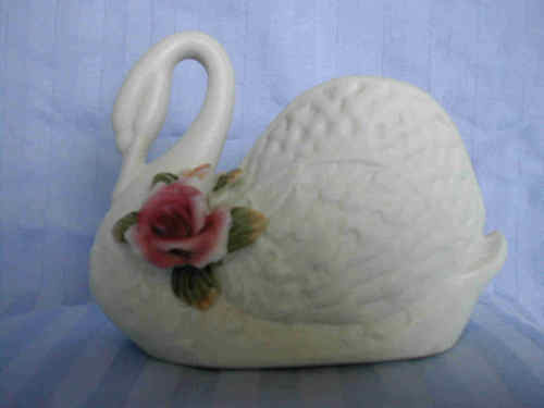 Ceramic Bisque Swan Vanilla scented Candle - New INVENTORY CLEARANCE SALE!