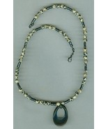 Unisex  Beaded Necklace,Dalmatian Jasper, Hematite,#12Sc11-002, Free Ship - $9.25