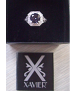 XAVIER ALEXANDRITE STERLING SILVER PAVE RING SI... - $30.00