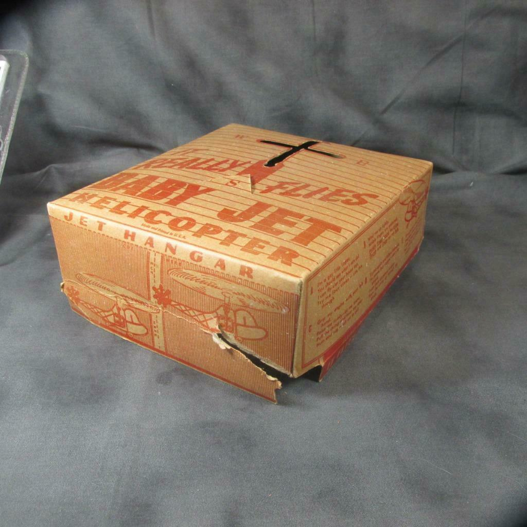 Primary image for Vintage (1930's-50's) Box Top for BABY JET HELICOPTER, Flying Toys Niagara Falls