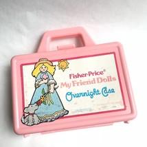 Vintage My Friend Dolls Overnight Case Pink Plastic 1981 Fisher Price - $19.55