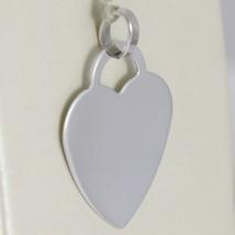 White Gold Pendant 750 18k Heart, incidibile, Length 2.3 cm, Made in Italy image 2