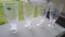 "4  SHANNON  Godinger 24% Lead Crystal Iced Tea Goblets Glasses 7-7/8"" - $36.99"