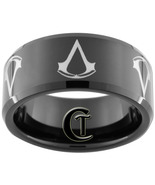 Tungsten Ring 10mm Black Assassins Creed Design... - $49.00