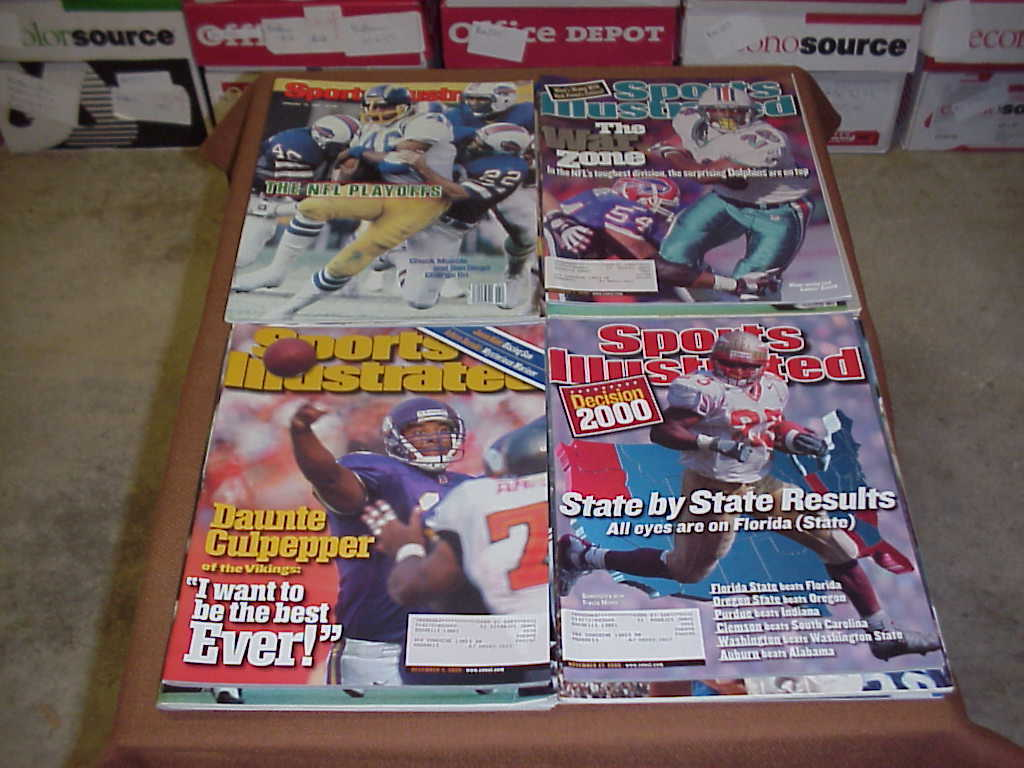 Sports Illustrated Magazine Football 1970s 1980s