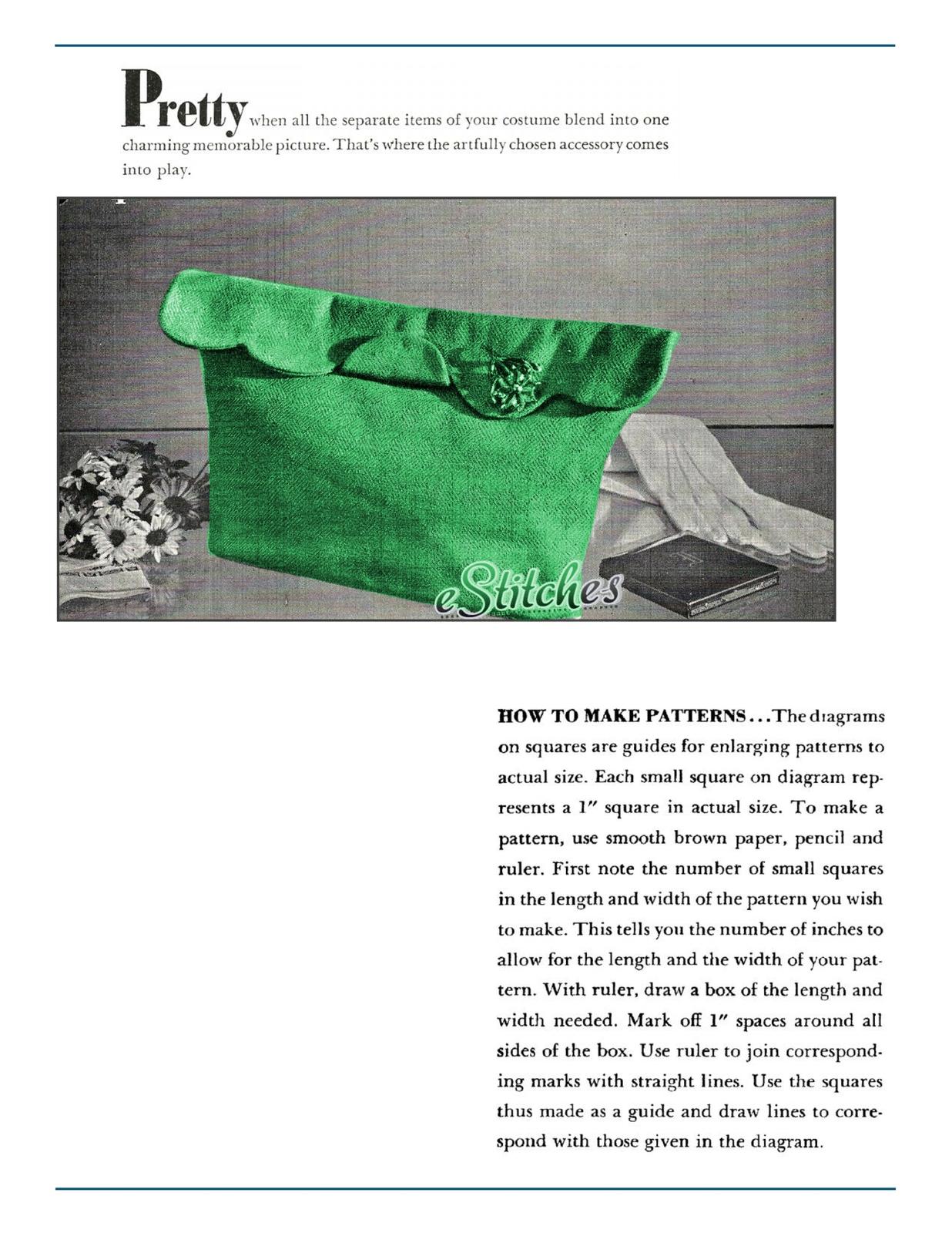 Bag scalloped envelope 1704 001a