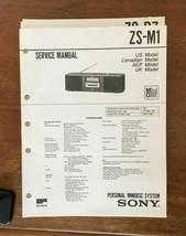 Sony ZS-M1 MiniDisc System   Service Manual *Original* - $14.80