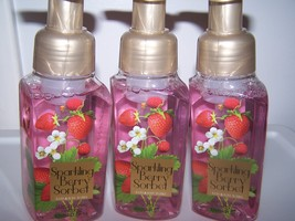 Lot of 3 Bath & Body Works Sparkling Berry Sorbet Gentle Foaming Hand Soap  - $19.75