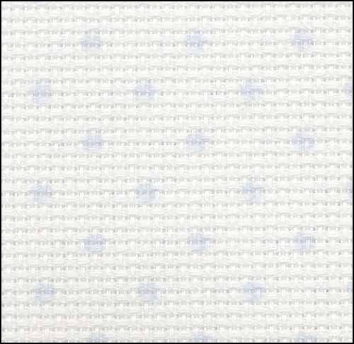 14ct petit point blue dot