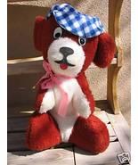 Vintage DOG w/Checkered Cap Plush Carnival - $25.00