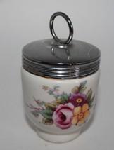 Vintage Royal Worcester Porcelain Egg Coddler with Metal Screw Top - $12.00
