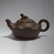 Handmade 280ml Yixing Zisha Unglazed Clay Teapot China Pottery Tea Pot Frog - $61.38