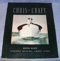 Original Chris Craft Motor Boats Sales Catalog Brochure 1937 - $79.95