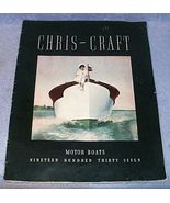 Original Chris Craft Motor Boats Sales Catalog Brochure 1937 - $79.95