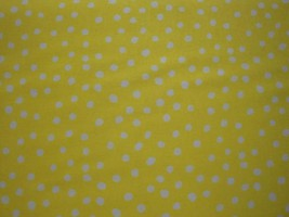 White Polka Dots on Yellow Background By Choice Fabrics-By The Yard - $8.95