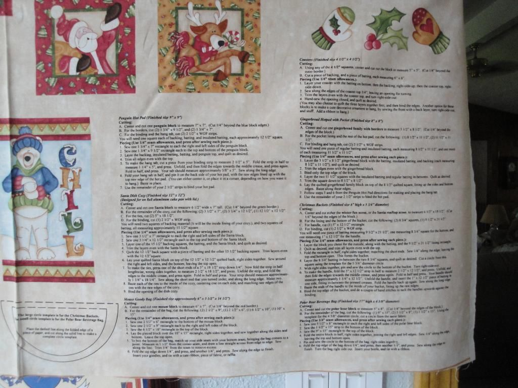 Christmas Crafts Panel by Red Rooster-7 Projects in One-All Instructions Incl.
