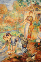 "Pierre-Auguste Renoir 22x28 ""The Washerwoman"" T... - $48.01"