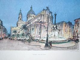 Catania Piazza Del Duomo Mario Carraro - $285.00