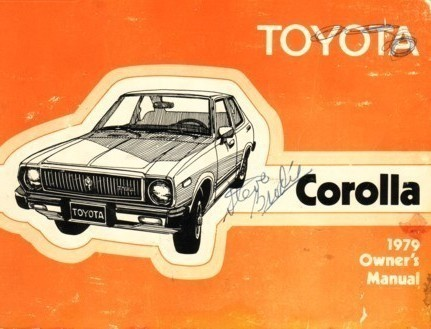 1979 Toyota COROLLA owner's manual book guide