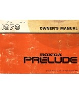 1979 Honda PRELUDE owner's manual book guide - $7.99