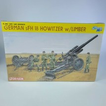 Dragon 1/35 Model Military Kit German sFH 18 Howitzer w' Limber 6392 Sealed - $45.53