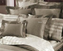 Sferra Ilaria Truffle Queen Duvet Set Scroll Egyptian Cotton Jacquard Italy NEW - $618.75