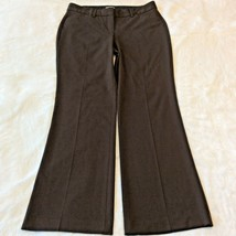 "Express Editor Dress Pants Size 6 S Dark Brown Winter Boot Cut 30"" Insea... - $17.88"