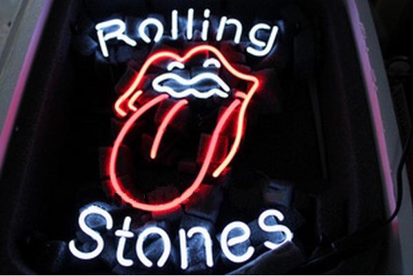 Al015 rolling stones music beer bar neon light sign 16   x 12