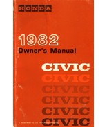 1982 Honda CIVIC owner's manual book guide - $7.99