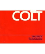 1984 Dodge COLT owner's manual book guide - $7.99