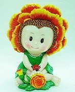 Flower Babies Coin Bank  October Baby Maddie
