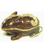 Welforth Fine Pewter Golden Brown Mouse Jewelry Trinket Box - $24.75