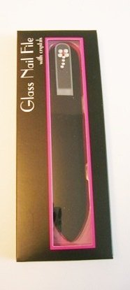 Hot Off The Press Crystal Daisy Glass Nail File 6 inches