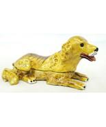 Welforth Fine Pewter Yellow Golden Retriever Jewelry Trinket Box - $26.23