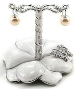 White Flower Earring Jewelry Holder - $24.75