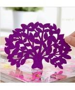 Tree in Bloom Felt Coaster Singles Mix n Match (Purple) - $1.24