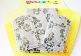 Passport Cover & Two Luggage Tags Set in Various Options Color Patterns ... - $14.36