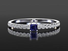 1.5ct Princess Diamond Engagement Ring, Wedding Ring, Solitaire Ring,Sil... - $88.65