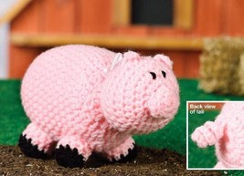 W190 Crochet PATTERN ONLY Piggy Wiggy Piglet Toy Doll Pattern - $7.50
