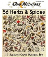 Y926 Cross Stitch PATTERN Book ONLY Jeanette Crews 56 Herbs & Spices One... - $24.95