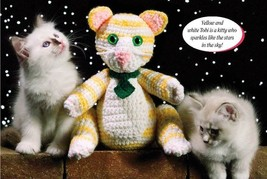 W189 Crochet PATTERN ONLY Tobi the Tabby Cat Toy Doll Pattern - $7.50