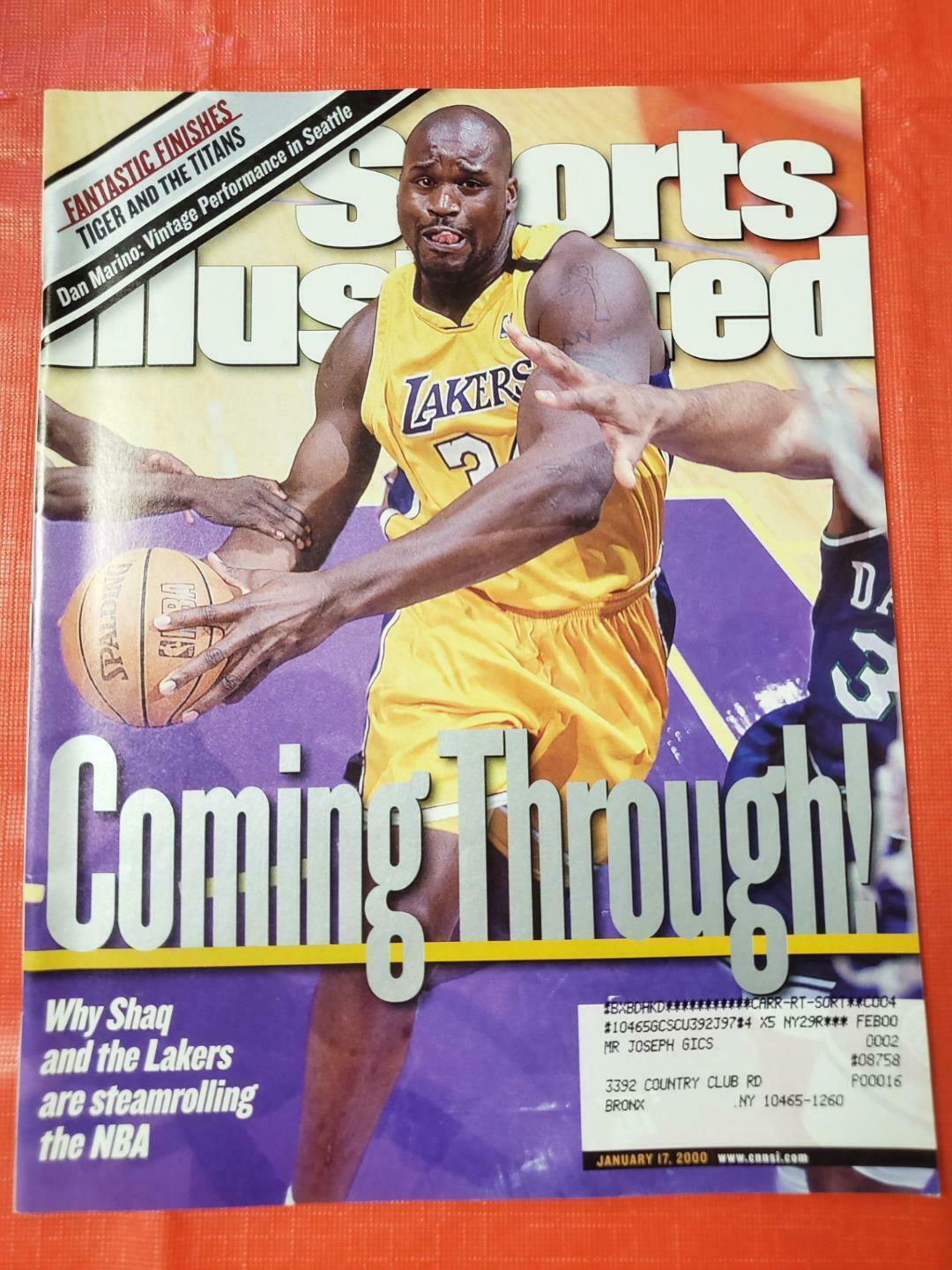 Primary image for Sports Illustrated Magazine ~ Shaquille O'Neal ~ January 17 2000