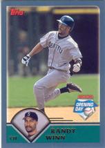 Randy Winn ~ 2003 Topps Opening Day #27 ~ Mariners - $0.20