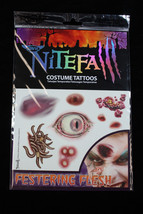 Realistic Gross-TEMPORARY TATTOOS-Horror Zombie Costume Makeup-FESTERING... - $3.93