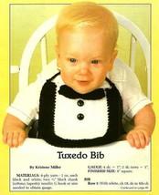 Y659 Crochet PATTERN ONLY Tuxedo Baby Bib Pattern - $8.50