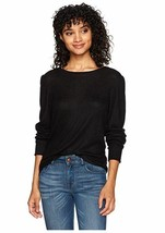 NEW WallFlower Junior's Balloon Long Sleeve Top, Jet Black, Extra Large ... - $15.88