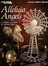 W080 Crochet PATTERN Book ONLY Alleluia Angels 4 Christmas Ornament Patterns - $13.95