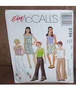 Easy McCall's 3194 - Girls Halter Tops, Bellbottom Pants & Short Skirt - Sz 7-8- - $1.85